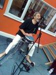 Dave Balen plays the Egytpian drum