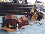 Adrian Litvinoff's basses in a moment of quiet